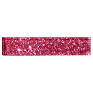 hot pink fuchsia tiny sequin glitter print name plate