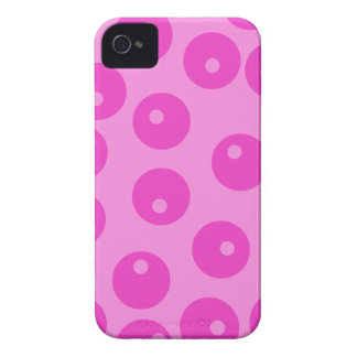 Hot Pink Funky Retro Pattern. iPhone 4 Cover