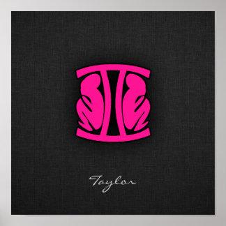 Hot Pink Gemini Poster