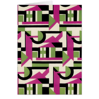 Hot Pink Geo Deco Greeting Cards