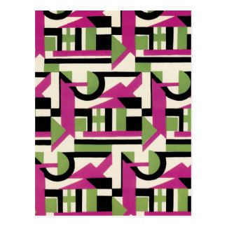 Hot Pink Geo Deco Postcards