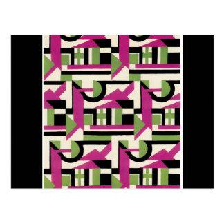 Hot Pink Geo Deco Postcard