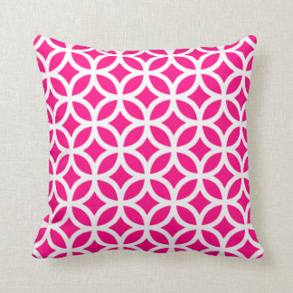 Hot Pink Geometric Pillow