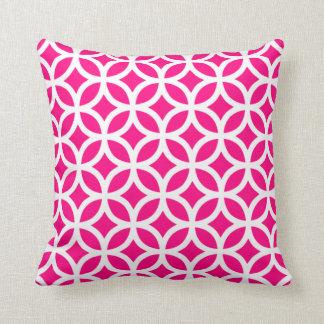 Hot Pink Geometric Pillow Cushion