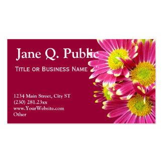 Hot Pink Gerber Daisies Business Card Templates
