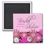 Hot Pink Gerber Daisy Bridal Shower Magnet