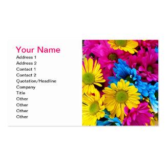 Hot Pink Gerber Daisy Business Card Template