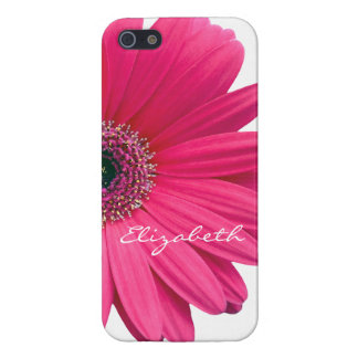 Hot Pink Gerber Gerbera Daisy Personalize iPhone 5 Cover