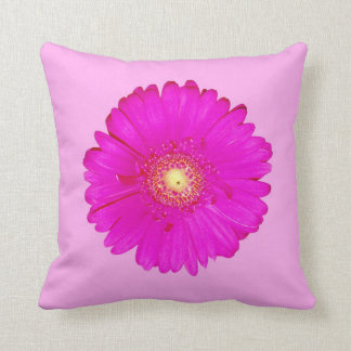 Hot Pink Gerbera Daisy Cushion