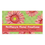 Hot Pink Gerbera Daisy Modern Floral Stylish Pack Of Standard Business Cards