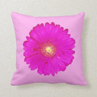 Hot Pink Gerbera Daisy Throw Pillow