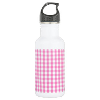Hot pink Gingham pattern 532 Ml Water Bottle