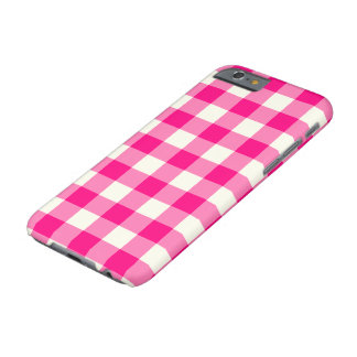 Hot Pink Gingham Pattern iPhone 6 Case