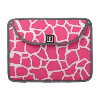Hot Pink Giraffe Animal Print MacBook Pro Sleeve