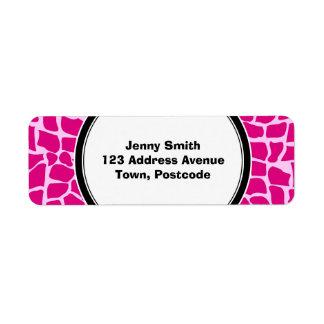 Hot pink giraffe pattern