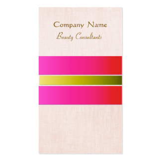 Hot Pink Girly and Feminine Beauty Consultant Business Card Template
