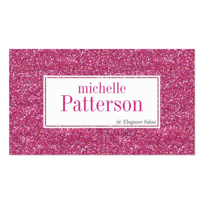 Hot Pink Glitter Appointment Business Cards