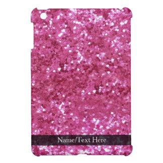 Hot Pink Glitter Look iPad Mini Cover