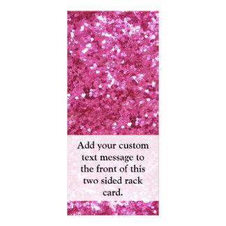 Hot Pink Glitter Look Personalised Rack Card