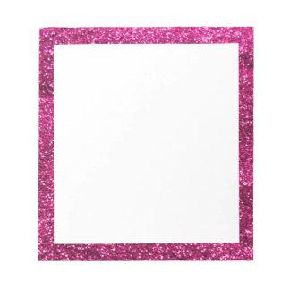 Hot Pink Glitter Notepad