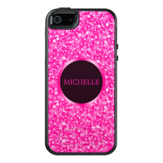 Hot Pink Glitter OtterBox iPhone 5/5s/SE Case