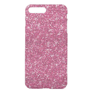 Hot Pink Glitter Printed iPhone 7 Plus Case