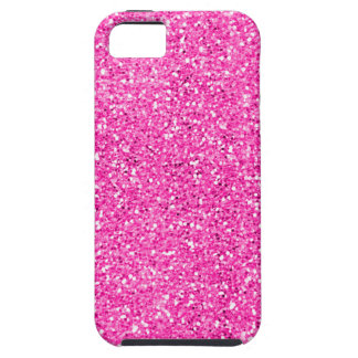 Hot Pink Glitter Tough iPhone 5 Case