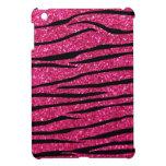 Hot pink glitter zebra stripes