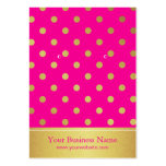 Hot Pink Gold Glitter Dots Earring Display Cards Pack Of Chubby Business Cards