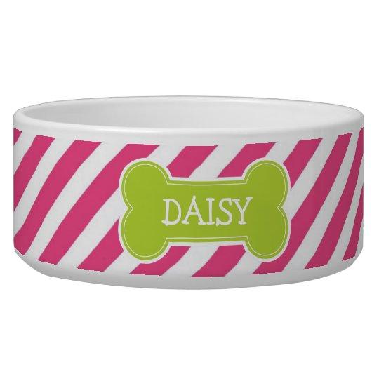 Hot Pink & Green Modern Diagonal Stripes