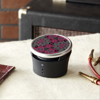 Hot Pink Grey Abstract Speaker