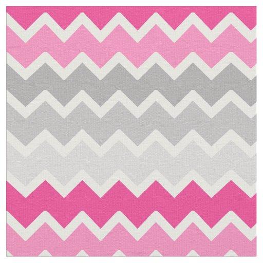 Hot Pink Grey Grey Ombre Chevron Zigzag Pattern