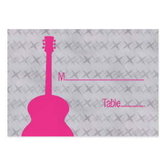 Hot Pink Guitar Grunge Place Card Pack Of Chubby Business Cards