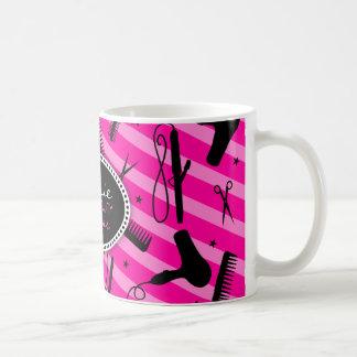 Hot Pink Hair Beauty Coffee Mugs