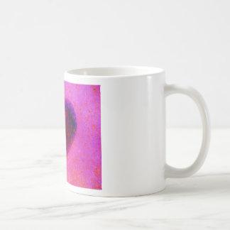 Hot  pink heart mugs