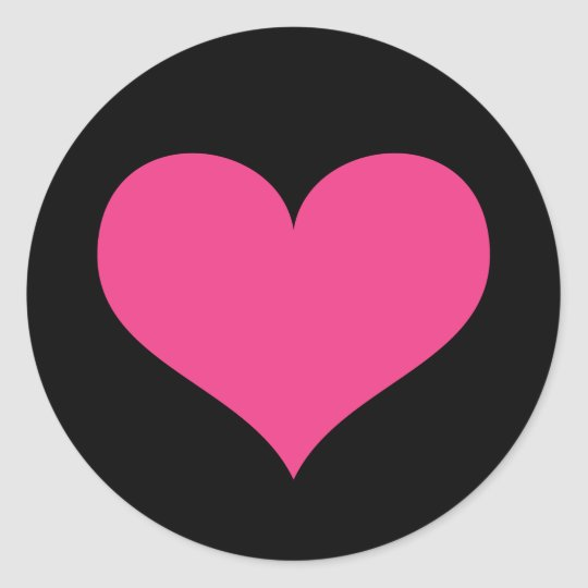 Hot pink heart on black love or Valentines