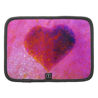Hot  pink heart organizers