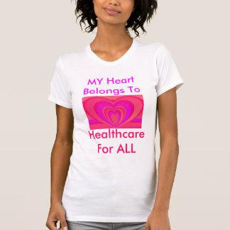Hot Pink Hearts T Shirt