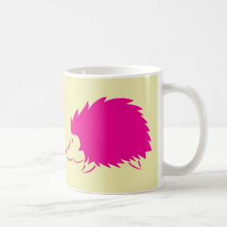 Hot Pink Hedgehog Basic White Mug
