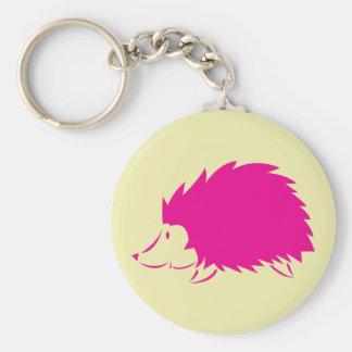 Hot Pink Hedgehog Key Ring