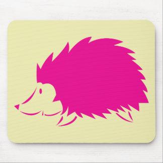 Hot Pink Hedgehog Mouse Pad