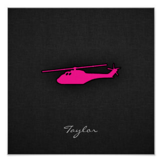 Hot Pink Helicopter Poster