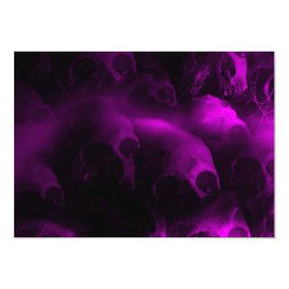 Hot Pink Hell Skull Halloween Invitation