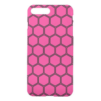 Hot pink Hexagon 3 iPhone 7 Plus Case