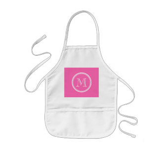 Hot Pink High End Colored Personalized Kids Apron