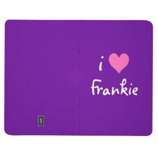Hot Pink I Love Frankie Purple Journal