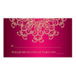 Hot Pink Indian Inspired Seating Place Card Pack Of Standard Business Cards