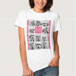 Hot Pink Instagram Photo Collage Custom Monogram T Shirt
