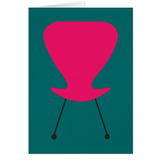 Hot Pink Keenest Retro Chair All-Purpose Note Card