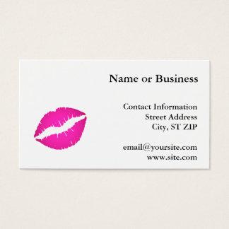 Hot Pink Kiss Business Card